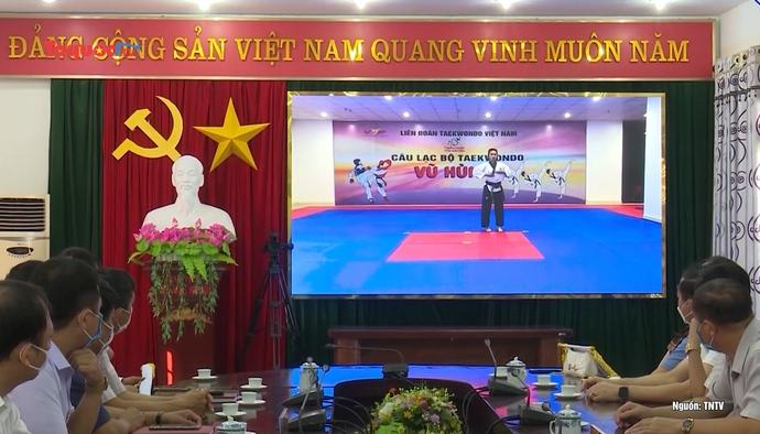Thái Nguyên khai mạc giải Taekwondo trực tuyến các câu lạc bộ