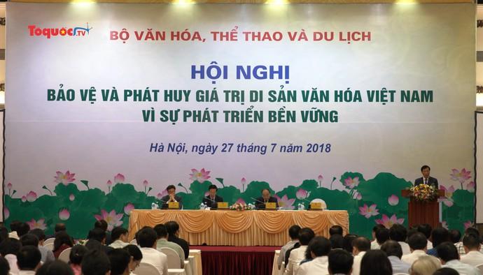 Thủ tướng dự Hội nghị bảo vệ và phát huy giá trị di sản văn hóa Việt Nam vì sự phát triển bền vững